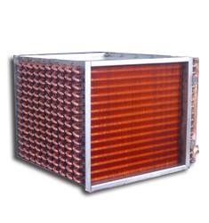 UII型紫铜管空气散热器 铜管表冷器